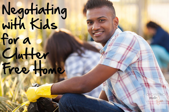 Negotiating with Kids for a Clutter Free Home :: OrganizingMadeFun.com