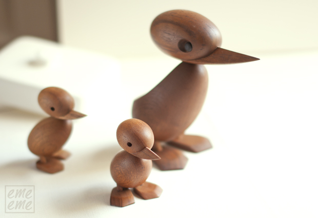 wooden Duck and Duckling architect made