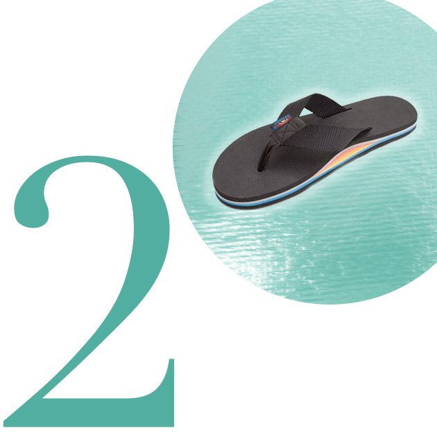 Top 5 Flip-Flops For Summer 2013: Single Layer Classic with Nylon Strap
