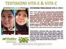 Testimoni Vit C dan Vit E