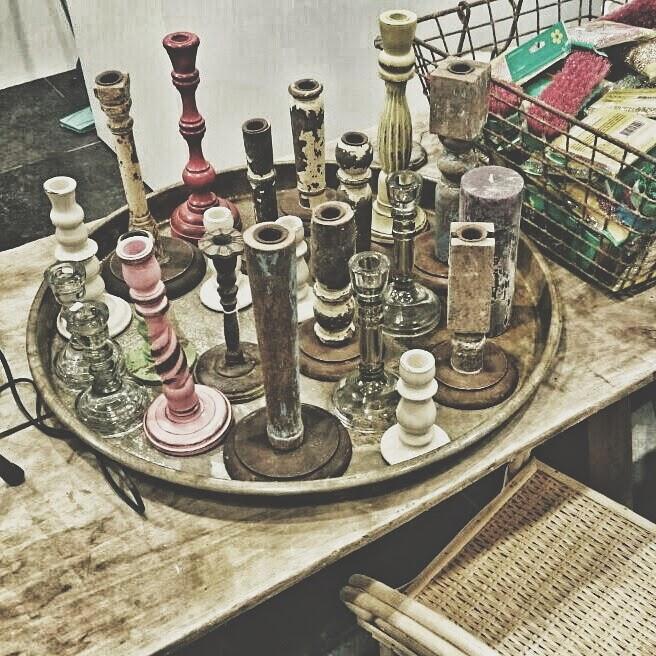 velas decoración vintage