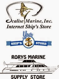 Scalise Marine, Your Ship's Store and Rorys Marine logos