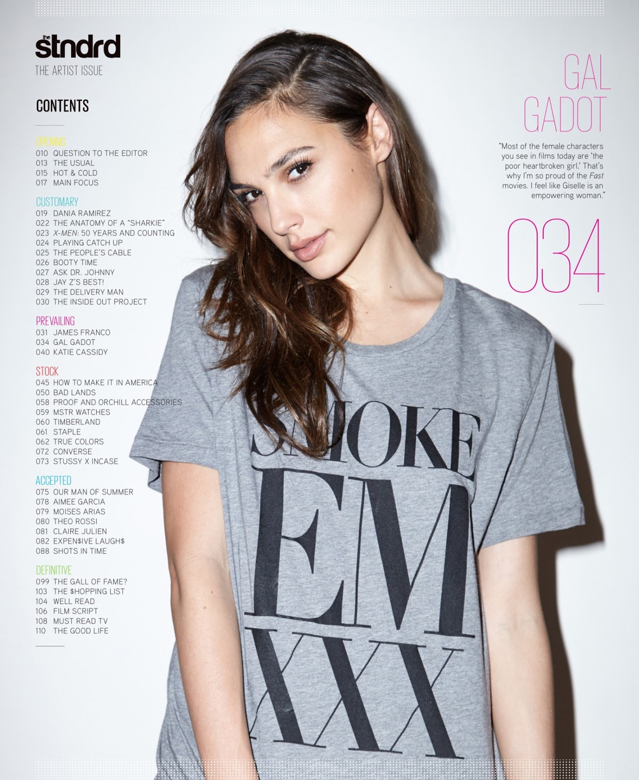Gal Gadot   Stndrd Magazine Issue