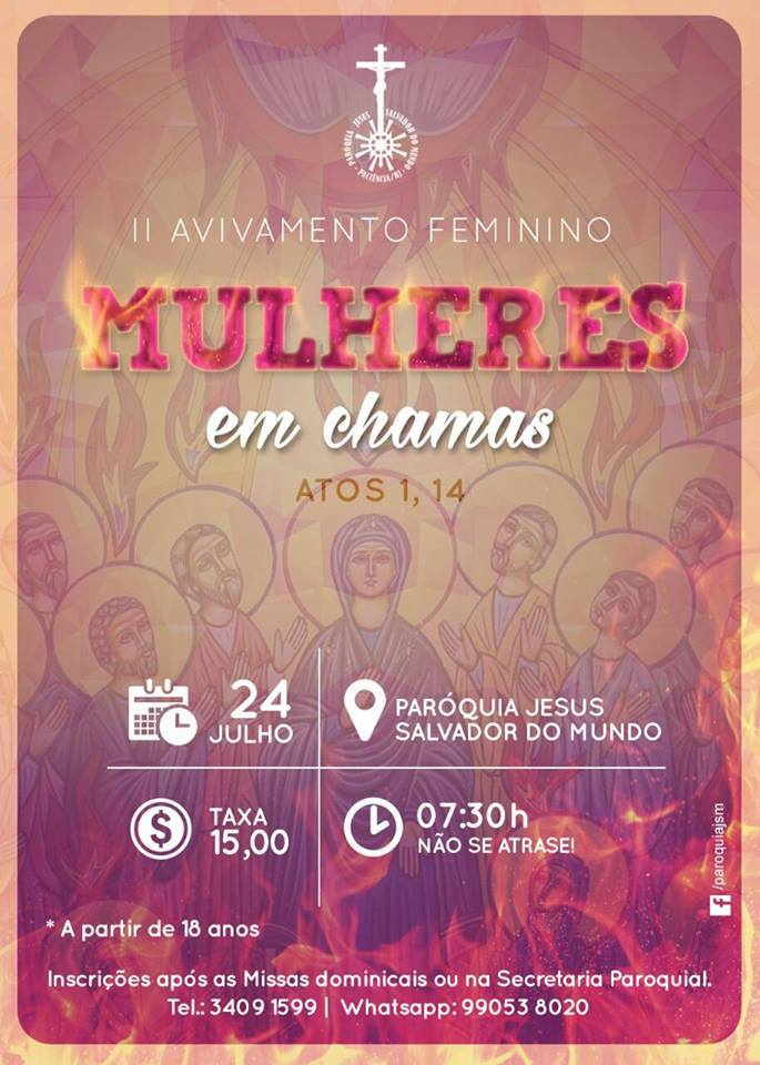 AVIVAMENTO FEMININO - PARÓQUIA JESUS SALVADOR DO MUNDO - PACIÊNCIA - RIO
