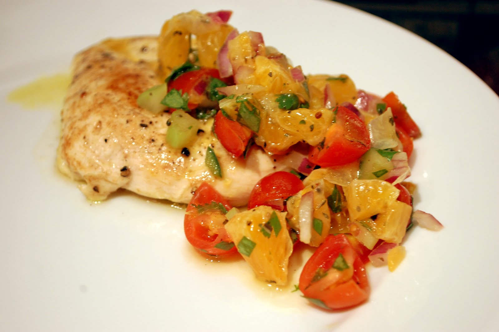 The Skillet Takes: Chicken with Clementine Salsa
