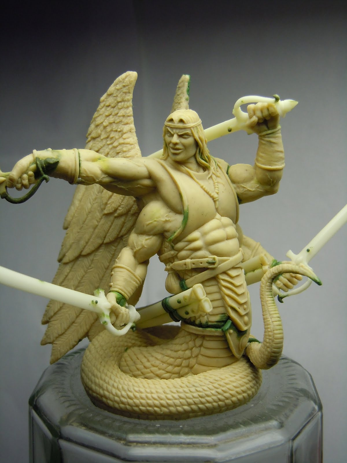 simon miniature sculptor ophius gorgon lord for maelstrom games. Black Bedroom Furniture Sets. Home Design Ideas