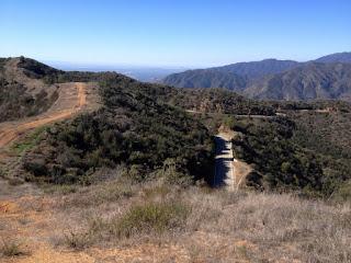 View south along Glendora Mountain ridge, Angeles National Forest