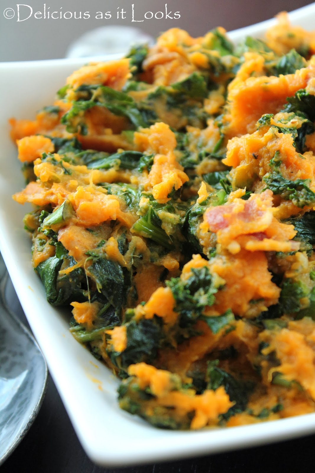 Sweet Potato & Kale Colcannon  /  Delicious as it Looks