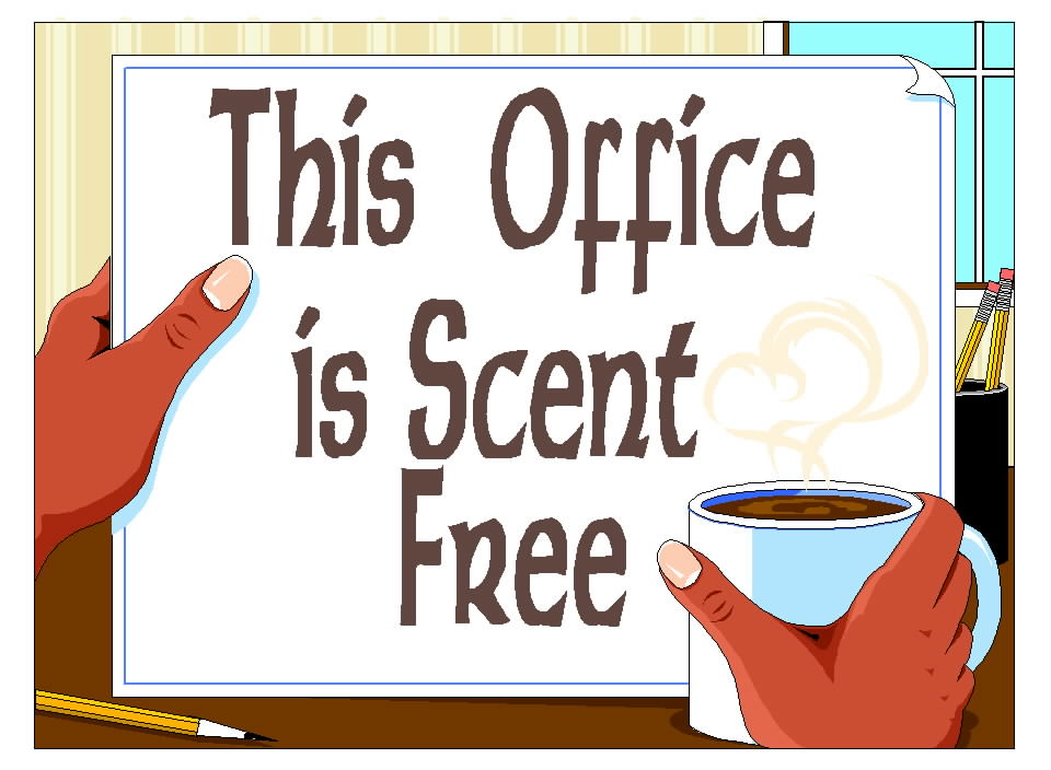 Free Posters and Signs: Office Scent Free