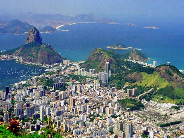 brasil, brazil, rio de janeiro, city at night, sea, view, hd, hq