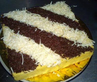 resep bolu jagung coklat keju