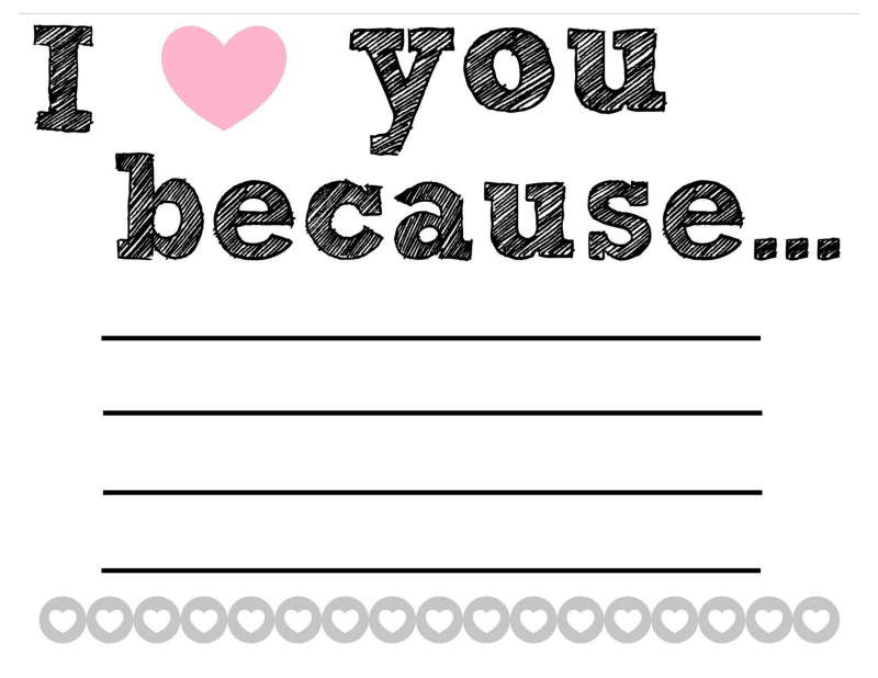 Selective image pertaining to i love you because printable