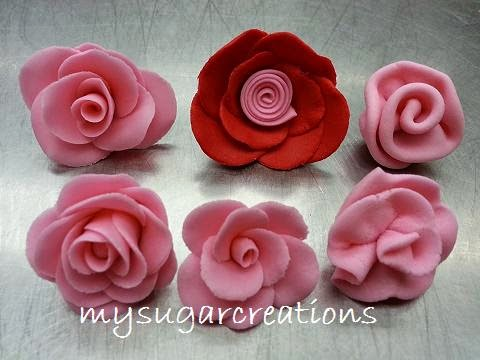 Beginner Flower Class - 6 ways of making gum paste roses   Surprise bonus!