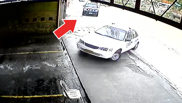A screenshot from the CCTV.