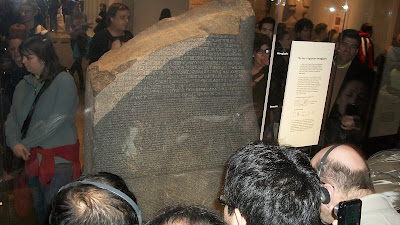 It was very crowded, but you can see the real stone.