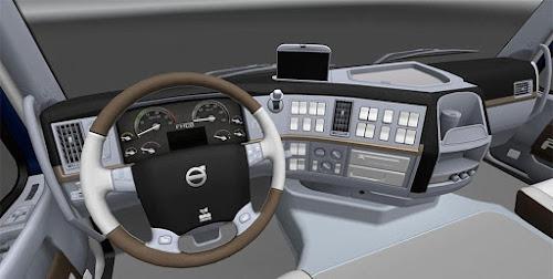 ETS2 Cabine - Branco Volvo FH16 2009 Para V.1.25.X By: Gile004