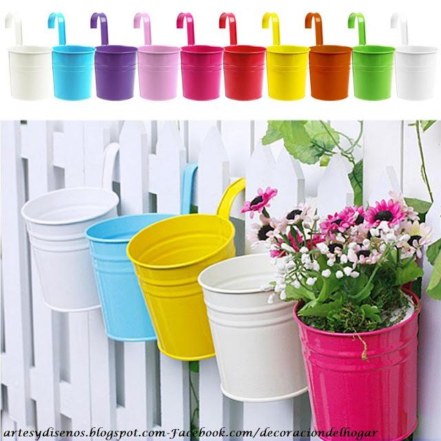 Macetas creativas y novedosas para plantas decoraci n - Maceteros colgantes para balcones ...