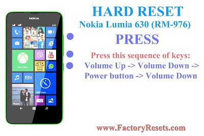 Hard Reset Nokia Lumia 630 (RM-976)