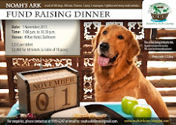 Noah's Ark Fund Raising Dinner on 1 Nov '13