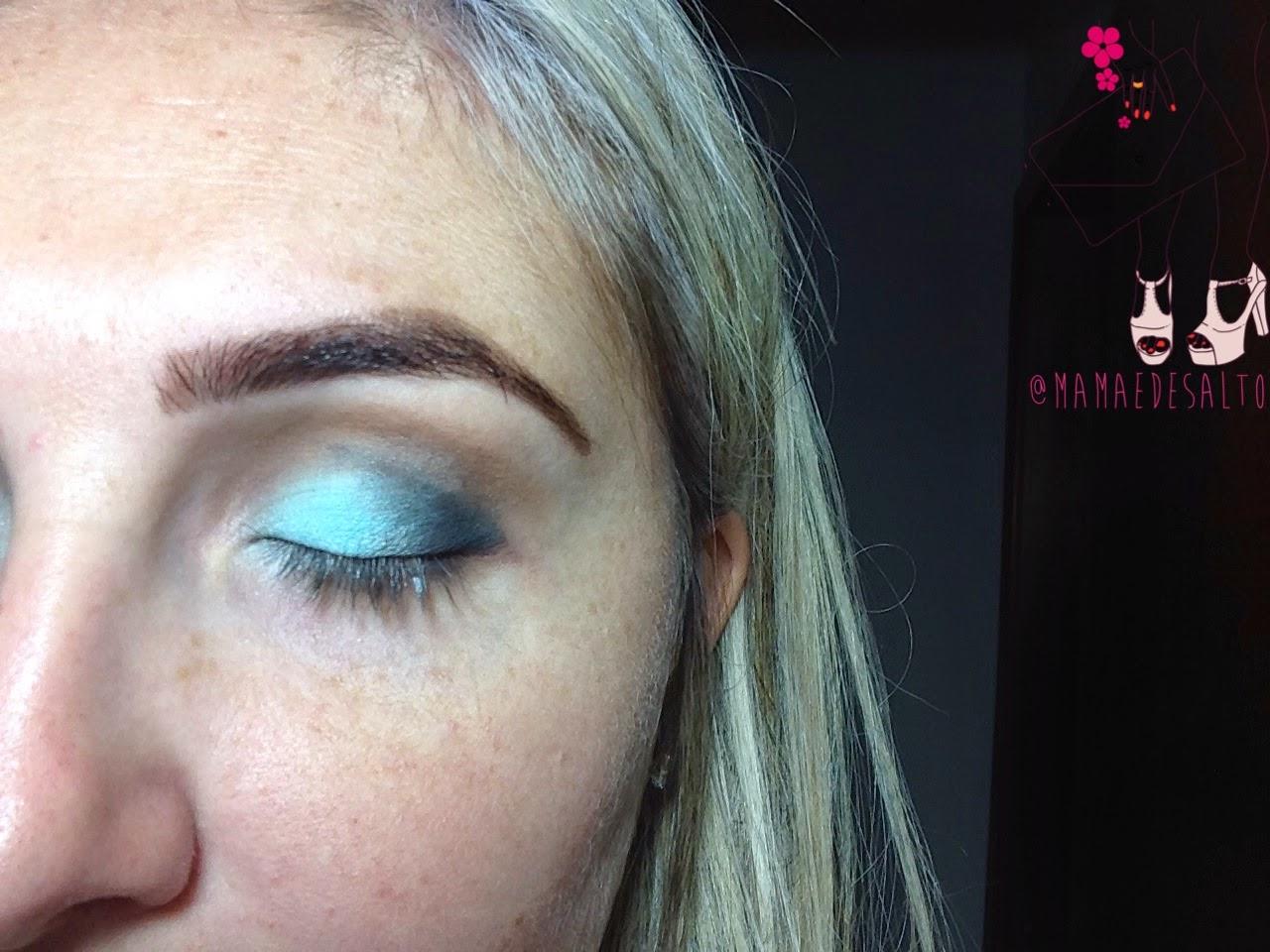 tutorial de maquiagem azul inspiração para festas de final de ano e verão => blog Mamãe de Salto