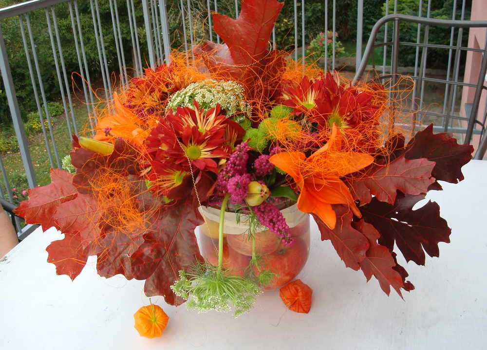 Squarecircleworks fall flower bouquet tutorial