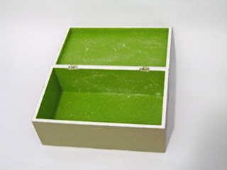 mdf box checkered green