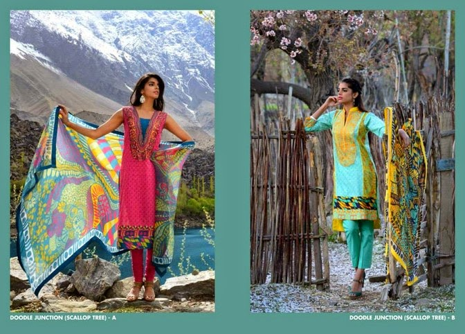 WardaSaleemLawn2014ByShariqTextile wwwfashionhuntworldblogspot 8  - Warda Saleem Lawn Collection 2014 By Shariq Textile