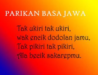 Contoh Parikan Pantun Bahasa Jawa