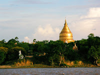 Shwezigon Pagoda seen from the river