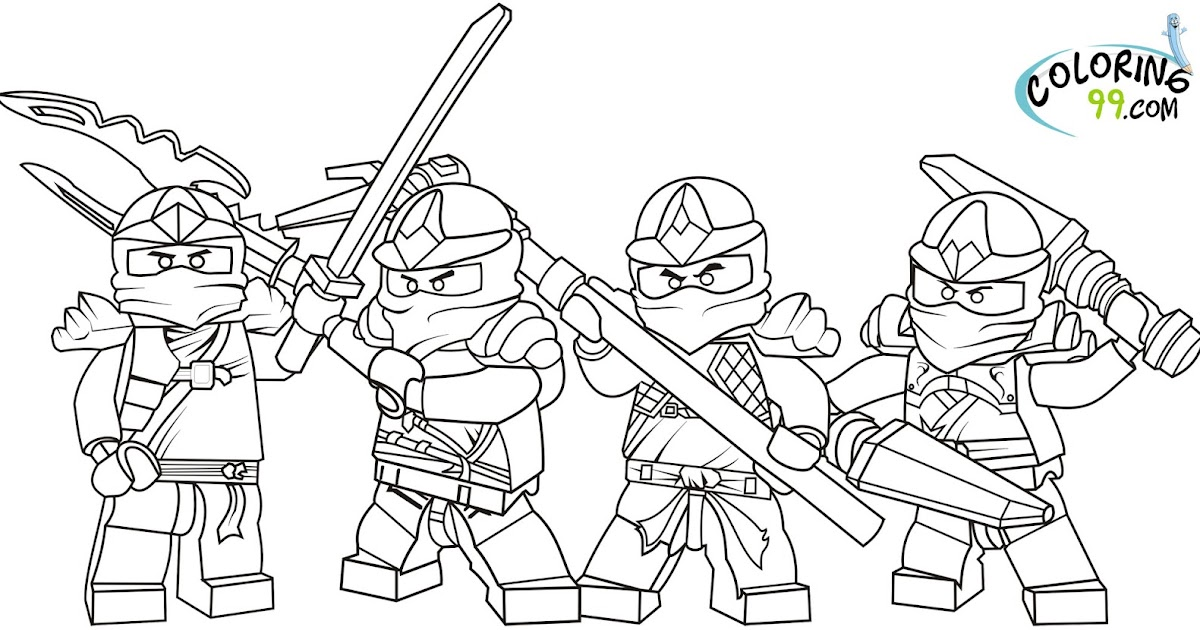 All About Lego LEGO Ninjago Coloring Pages