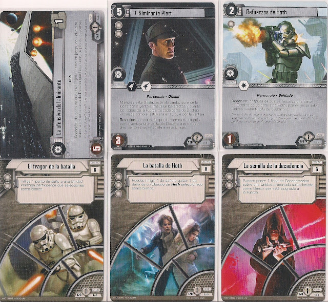 Expansión Star Wars LCG: Ciclo de Ecos de la Fuerza - Su energía nos une La defensiva del almirante