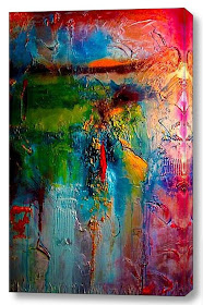 STUNNING ORIGINAL ABSTRACT PAINTING & --SHIPPING IS FREE!