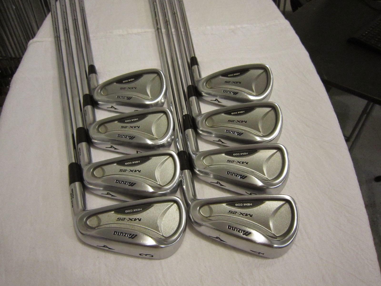 Mizuno MX-25 Iron Set MX25 - 3-PW - Dynalite Gold SL R300 Regular Flex Steel