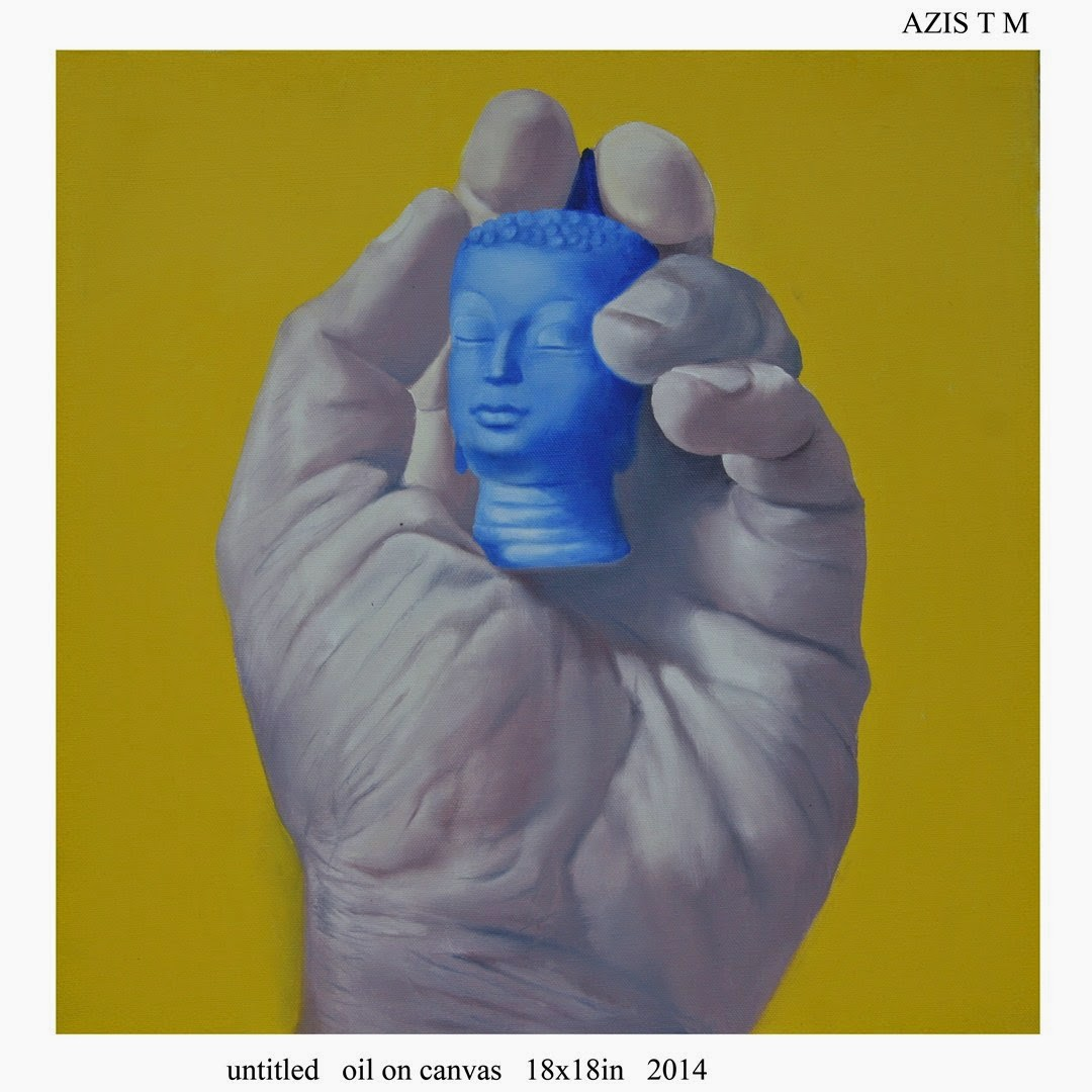 Azis  Untitled Acrylic on canvas, 18''x18'' 2014 11th annual show, Galerie Sara Arakkal, Art Scene India