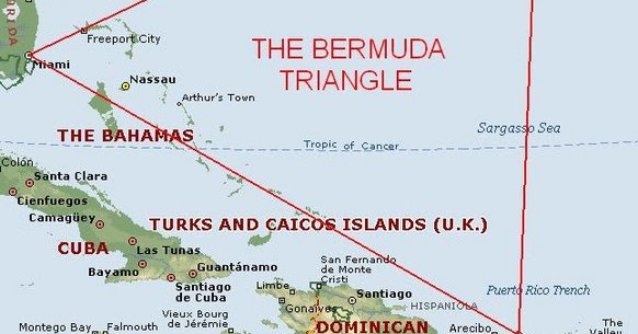 Bermuda In Relation To Us Map: Map Of Bahamas And Bermuda Triangle At Usa Maps