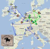 Crazy Horse Tour 2013 Karte und Tourplaner