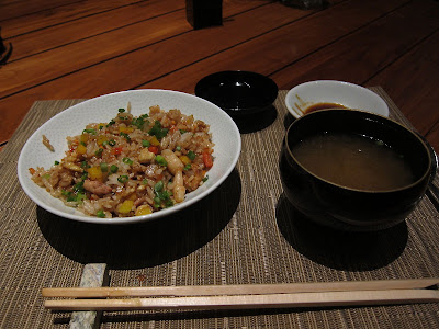 Fried Rice and Miso Soup at Edo Bangalore