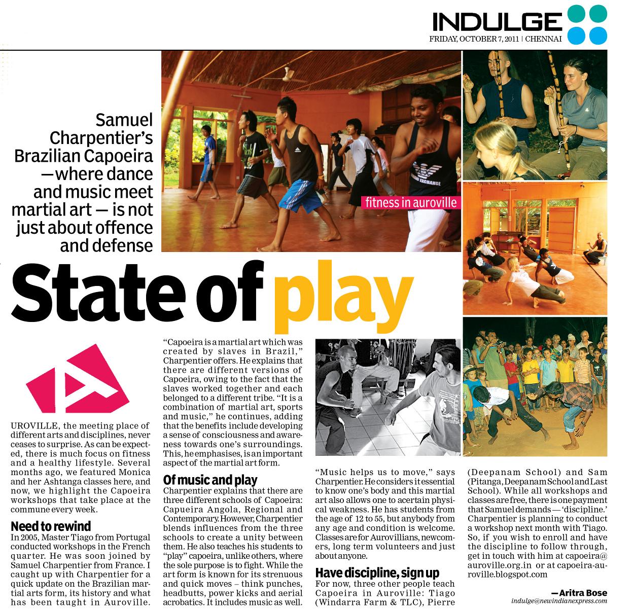 Chennai Express Auroville Capoeira: In...