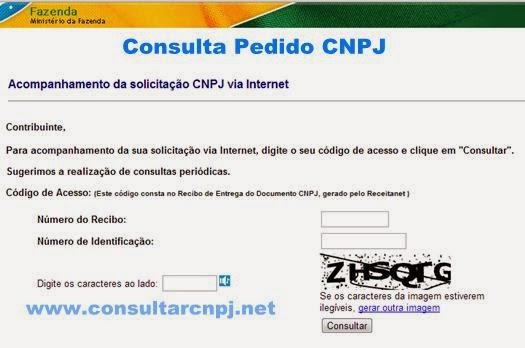 Consulta Pedido CNPJ