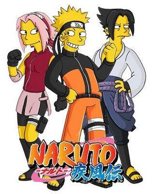 Simpsons as anime