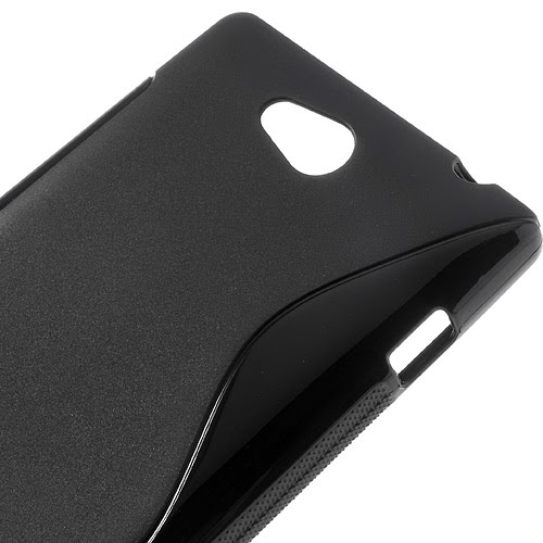 S-Curve Soft TPU Jelly Case for Sony Xperia C C2305 S39h - Black