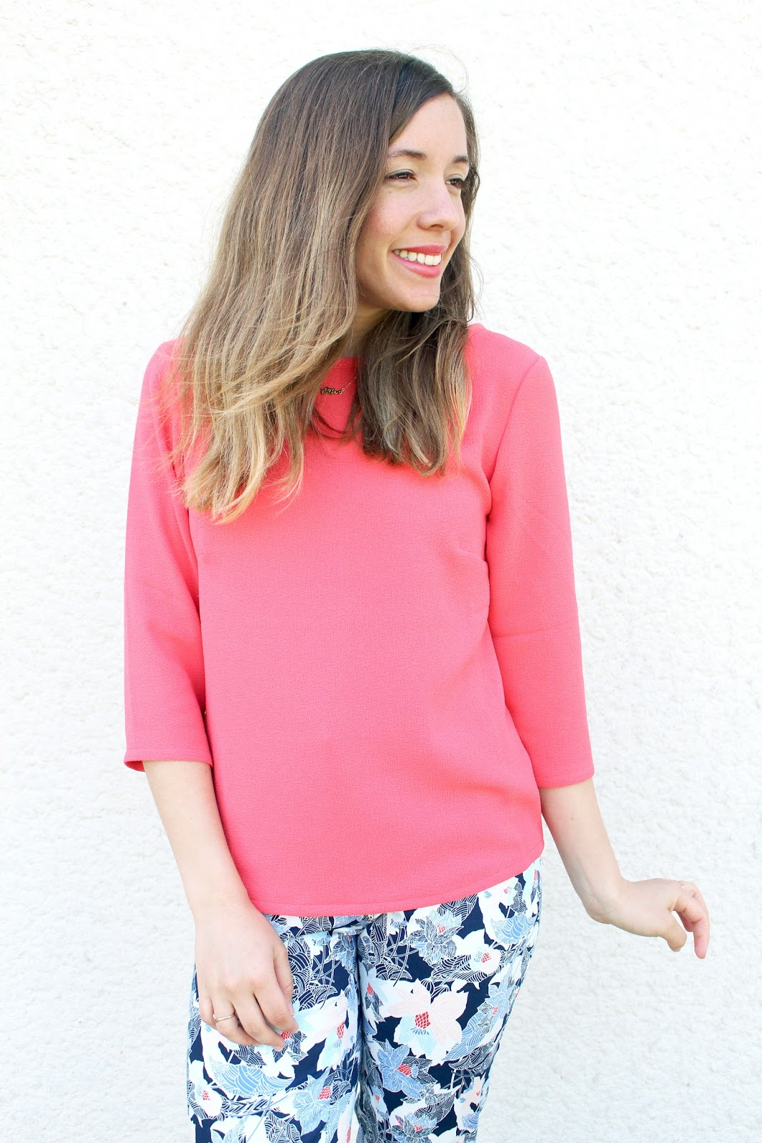 Top corail printemps