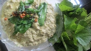 vallarai keerai chutney for idly, dosa, curd rice in Tamil – south indian spinach recipe