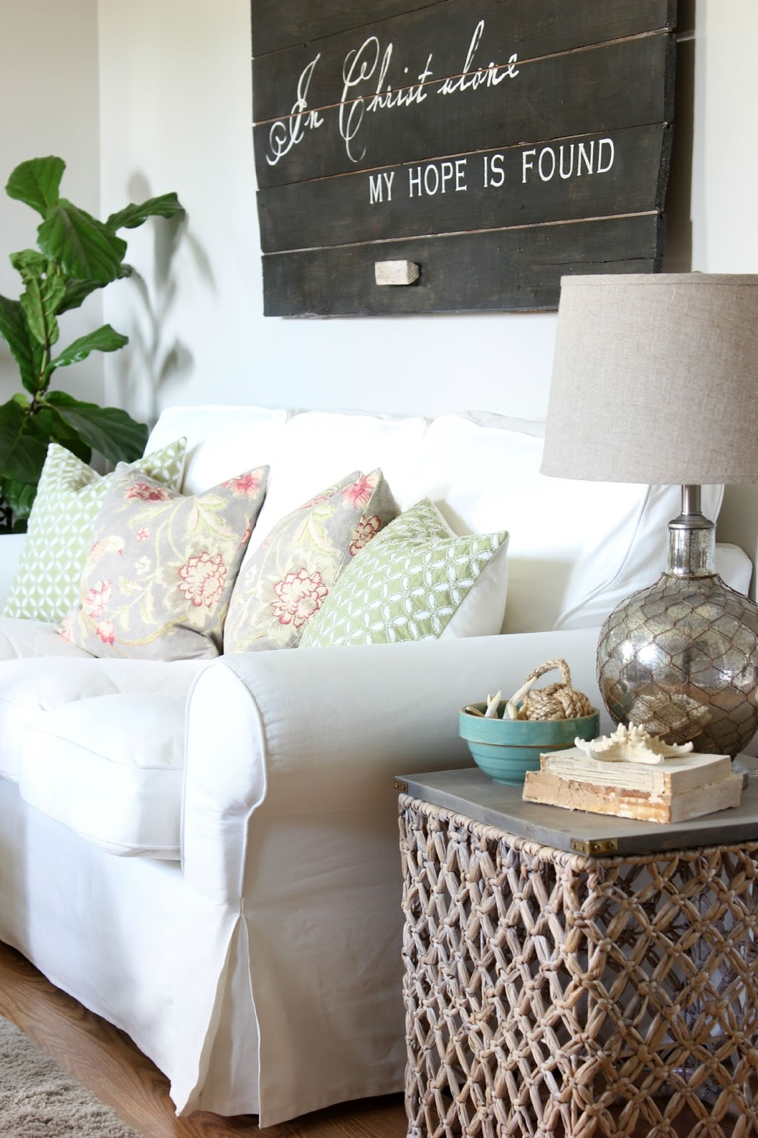 I Did Show Some Restraint, But This Wicker Basket (and A Few Other Things)  Did Come Home With Me. I Knew It Could Make A Great Summertime End Table In  The ...