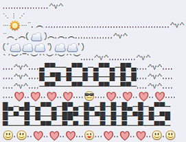 good morning good morning emoji art