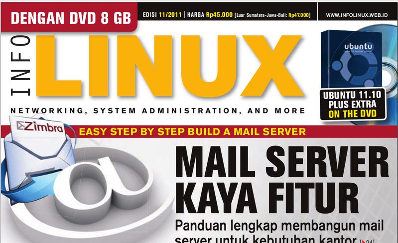 Cover Majalah InfoLinux edisi November 2011