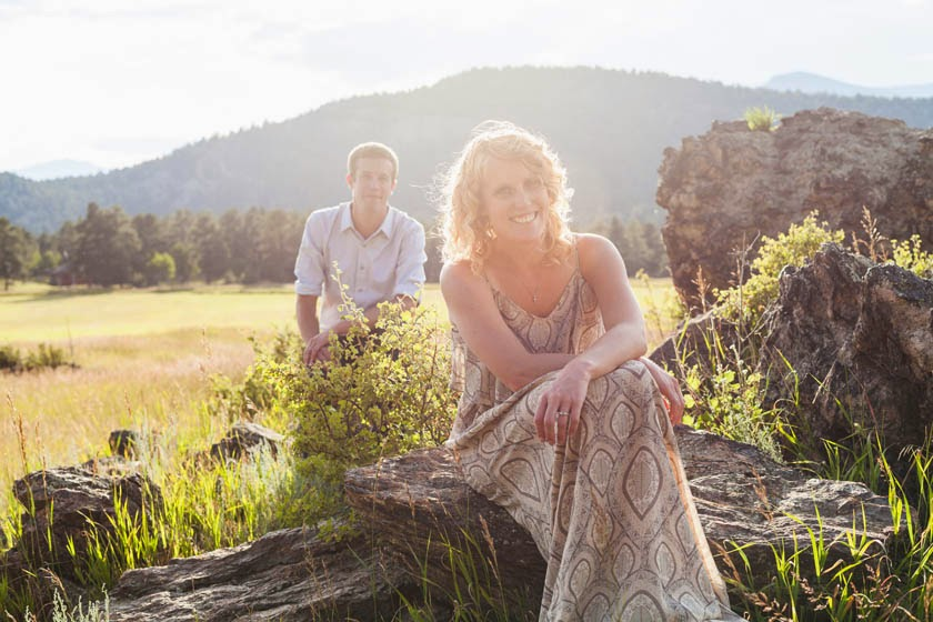Evergreen engagement session by Andy from Brosphoto