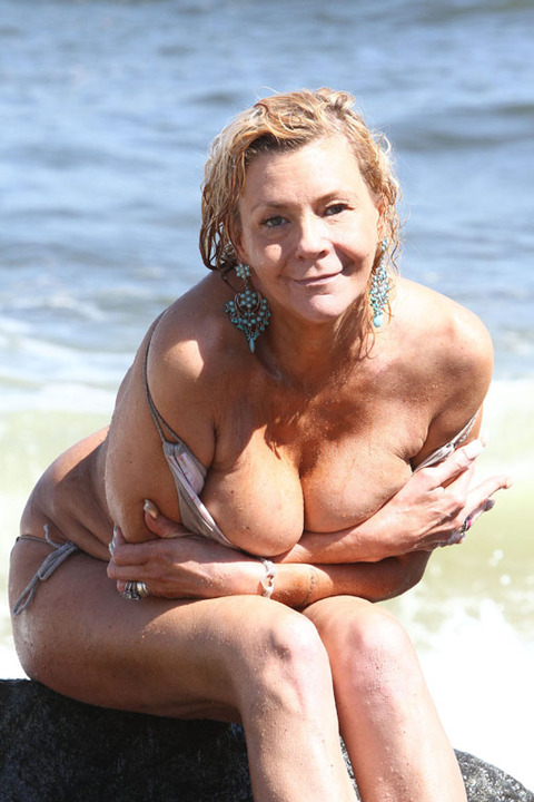 Tanning Mom Gets Nude On Beach