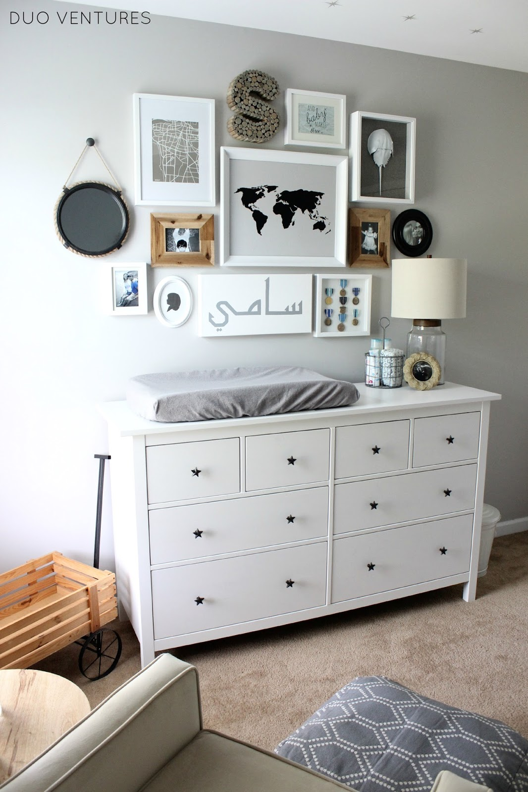 The Nursery  Custom IKEA Hemnes Dresser. Duo Ventures  The Nursery  Custom IKEA Hemnes Dresser