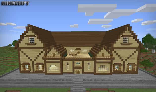 Gri disegni minegrift cottage casa de campo en minecraft for Como aser una casa moderna y grande en minecraft